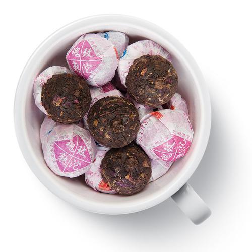 Пуэр Мини Tо Ча (Сяо То) с розой от магазина Все чаи