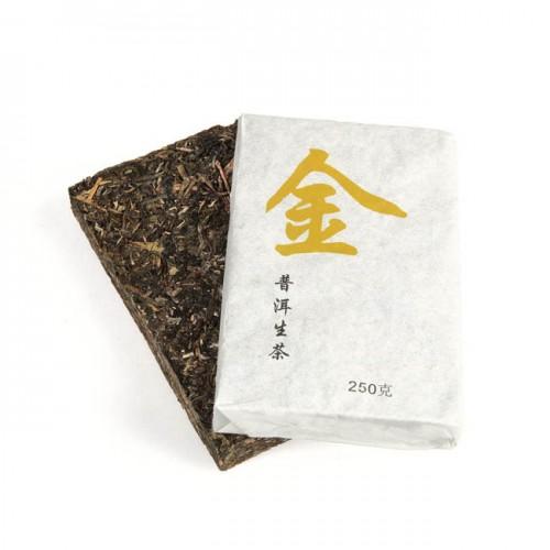 Шен Пуэр Золото кирпич, 250 гр (фаб. Цзинмай 2013 г.) от магазина Все чаи
