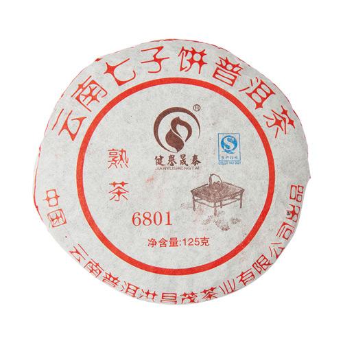 Шу Пуэр, 6801, Хуннань Ти Компани, 2008 г., блин от магазина Все чаи