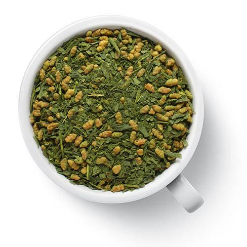 Зеленый ароматизированный чай Генмайча от магазина Все чаи