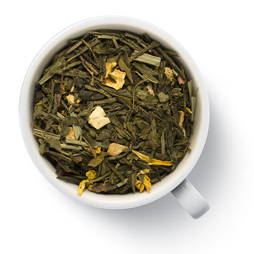 Зеленый ароматизированный чай Имбирь с лимоном от магазина Все чаи