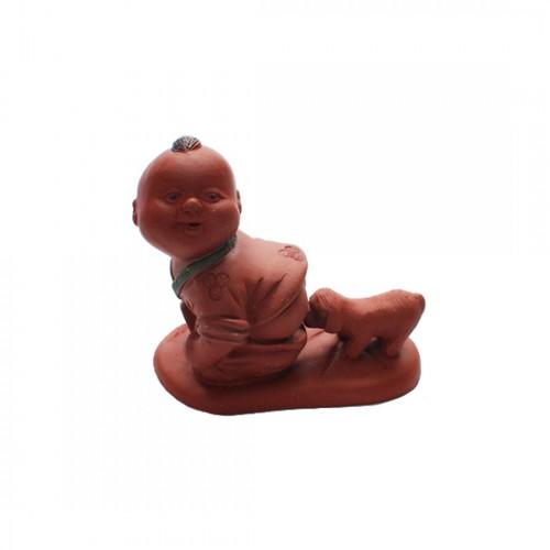 Глиняная Игрушка Для Чайной Церемонии Мальчик и щенок от магазина Все чаи