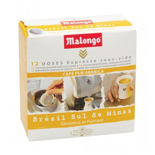 Кофе Malongo в чалдах Бразилия Сул Де Минас (12 шт.) от магазина Все чаи
