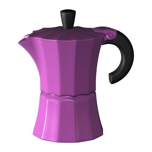 Гейзерная кофеварка Morosina (на 6 чашек), фуксия от магазина Все чаи