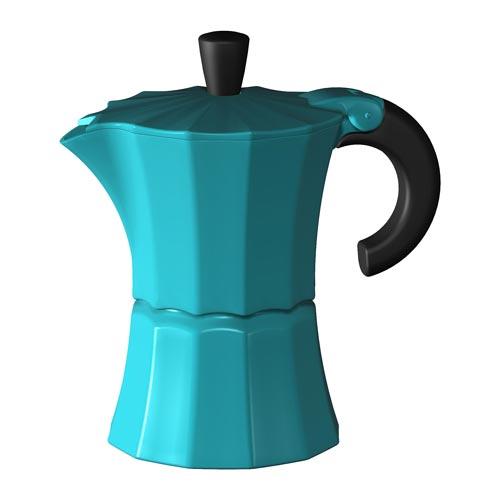 Гейзерная кофеварка Morosina (на 9 чашек), синяя от магазина Все чаи