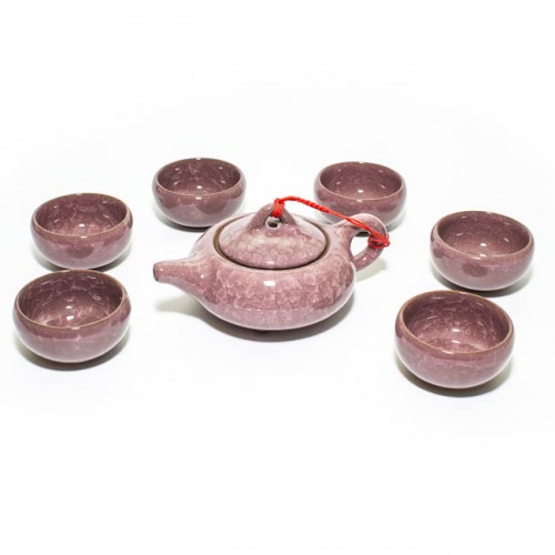 Чайный набор Колотый лед сиреневый (6 персон) от магазина Все чаи