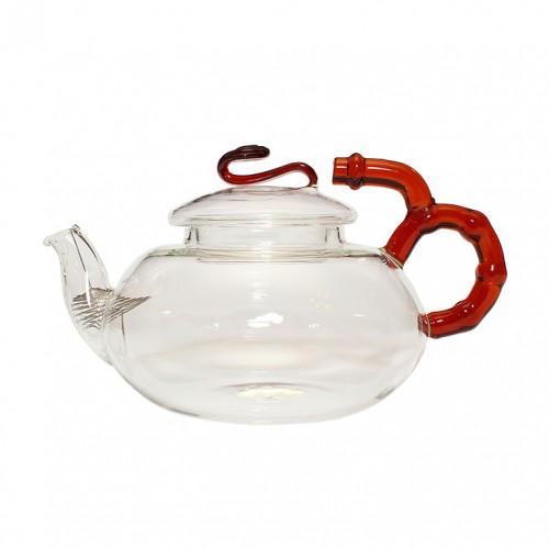 Стеклянный заварочный чайник Бамбук, 450 мл от магазина Все чаи