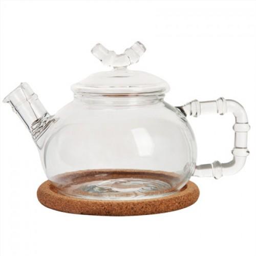 Стеклянный заварочный чайник Бамбук, 460 мл от магазина Все чаи
