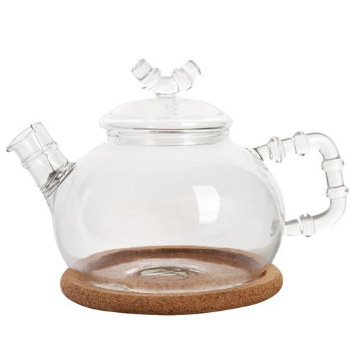 Стеклянный заварочный чайник Бамбук, 630 мл от магазина Все чаи