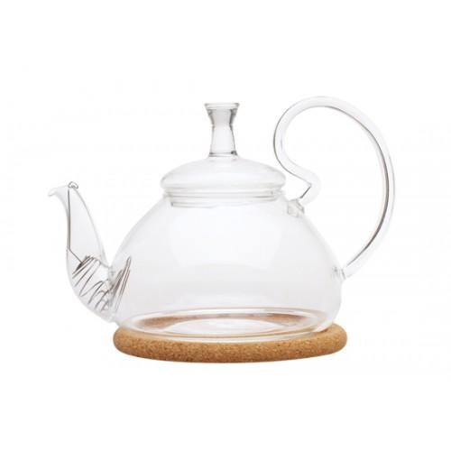 Стеклянный заварочный чайник Георгин средний, 600 мл от магазина Все чаи