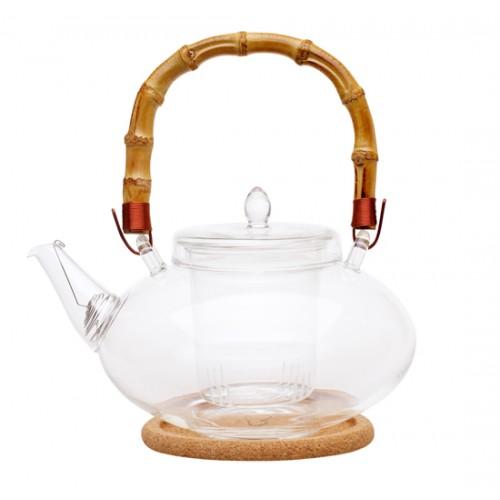Стеклянный заварочный чайник Душистая кувшинка, 1000 мл от магазина Все чаи