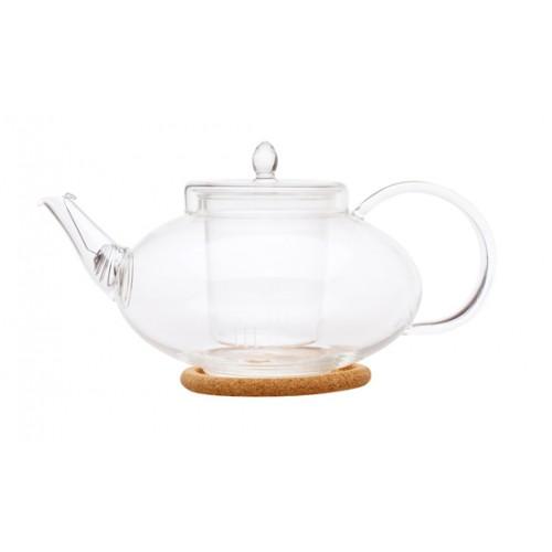 Стеклянный заварочный чайник Душистая лилия, 1000 мл от магазина Все чаи