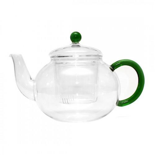 Стеклянный заварочный чайник Зеленый лотос, 650 мл от магазина Все чаи