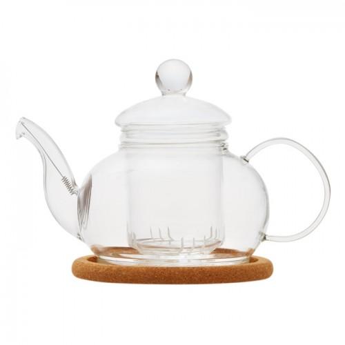 Стеклянный заварочный чайник Лотос, 480 мл от магазина Все чаи