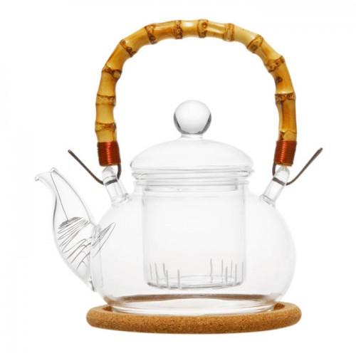 Стеклянный заварочный чайник Мак, 500 мл от магазина Все чаи