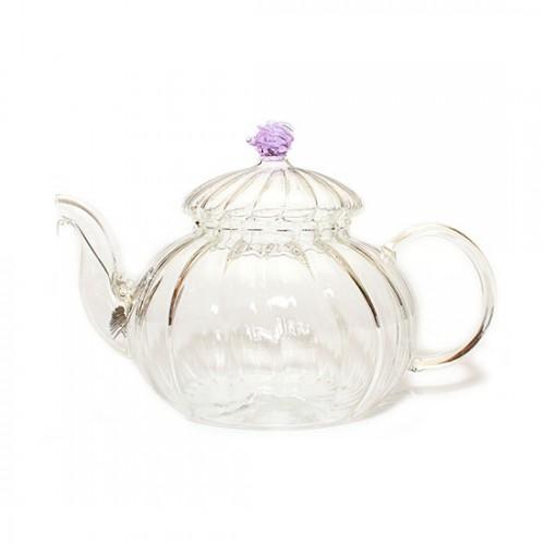 Стеклянный заварочный чайник Огненный цветок, 600 мл от магазина Все чаи