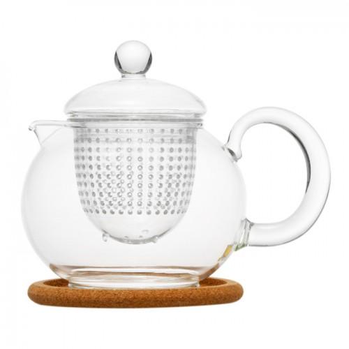 Стеклянный заварочный чайник Пион, 800 мл от магазина Все чаи