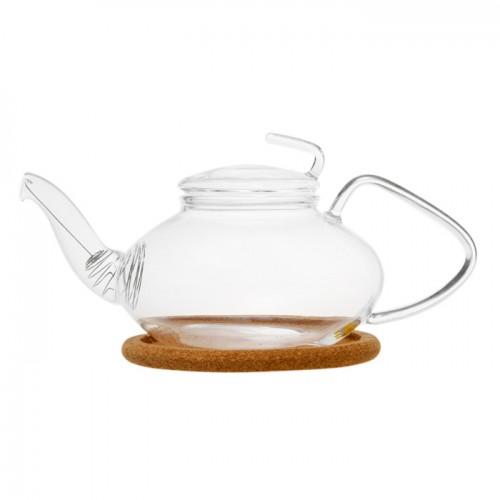 Стеклянный заварочный чайник Роза, 470 мл от магазина Все чаи