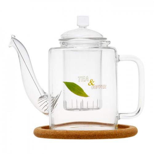 Стеклянный заварочный чайник Ромашка, 400 мл от магазина Все чаи