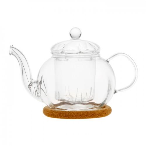 Стеклянный заварочный чайник Фиалка, 350 мл от магазина Все чаи