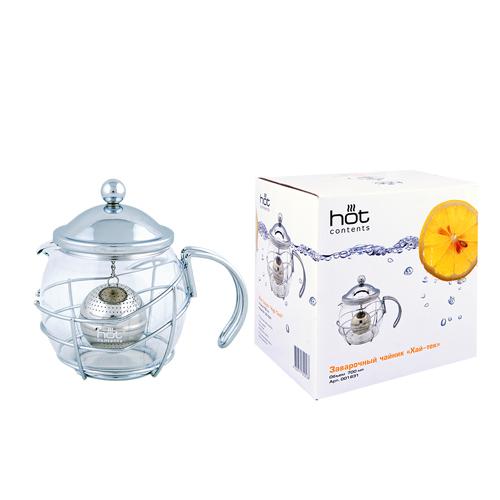 Стеклянный заварочный чайник Хай-тек, 700 мл от магазина Все чаи