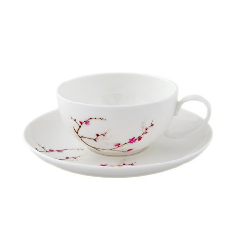 Цветущая сакура чашка с блюдцем, 180 мл от магазина Все чаи