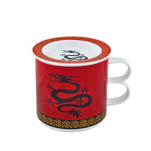 Заварочная кружка Восточный дракон широкая (цвет красный), 300 мл от магазина Все чаи