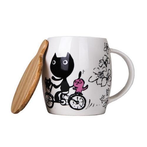 Керамическая кружка Bicycle Cat, 450 мл от магазина Все чаи