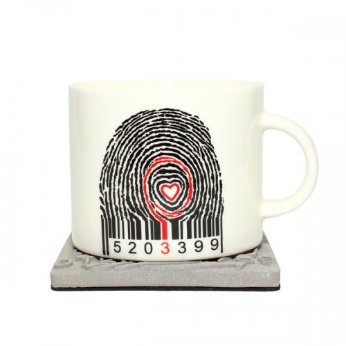 Керамическая кружка Finger Code, 350 мл от магазина Все чаи