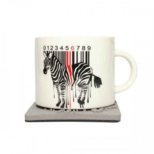Керамическая кружка Zebra Code, 350 мл от магазина Все чаи