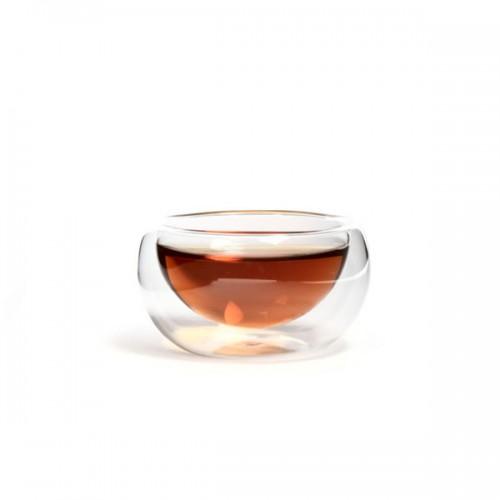 Необжигающая пиала из жаропрочного стекла с двойными стенками 50 мл от магазина Все чаи