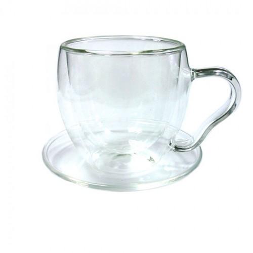 Чайная пара-термос Канны 200 мл., из жаропрочного стекла от магазина Все чаи